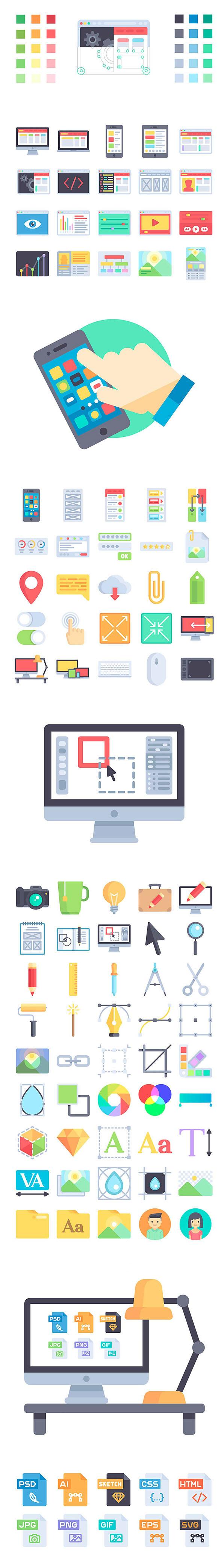 آیکون های فلت برای طراحی وب